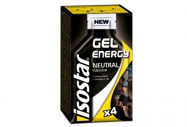 isostar gel energetique total performance neutre 4x35g