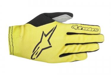 gants longs alpinestars aero 2 jaune noir