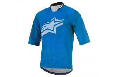 maillot manches 3 4 alpinestars totem bleu