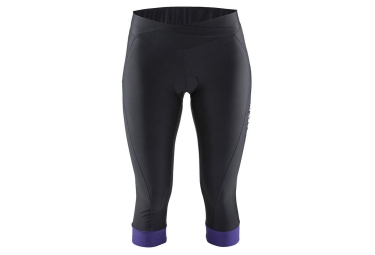 craft cuissard velo 3 4 sans bretelles femme move knicker noir violet