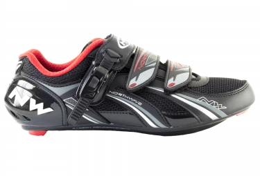 chaussures route northwave fighter sbs noir rouge