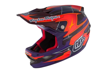 casque integral troy lee designs d3 carbon mips render 2016 violet rouge