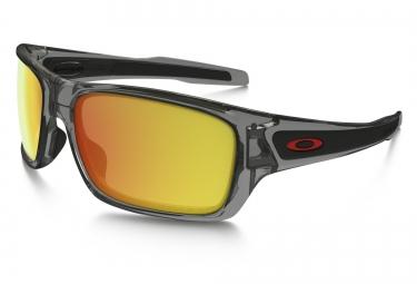 lunettes oakley turbine gris jaune iridium polarise ref oo9263 10