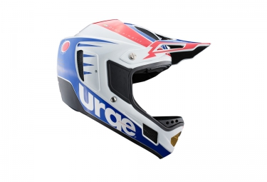 casque integral urge down o matic rr blanc rouge bleu