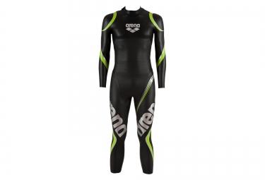 combinaison de triathlon arena wetsuit carbon noir vert