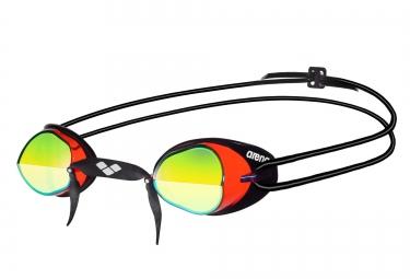 lunettes de natation arena swedix mirror rouge jaune noir