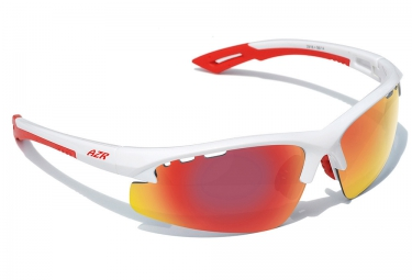 azr lunettes izoard blanc rouge iridium