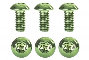 kit de 6 vis de disque neatt inox m5x10mm vert