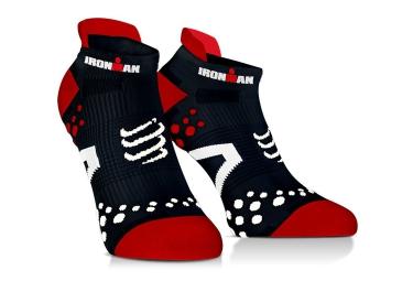 paire de chaussettes compressport pro racing socks v2 1 run ironman noir