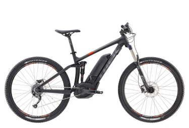 vtt electrique trek powerfly 5 fs 27 5 noir orange 2017