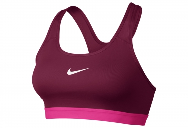 brassiere rembourree nike pro classic rose