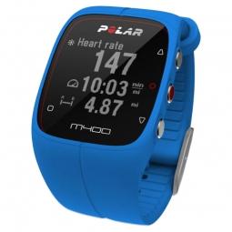 polar montre m400 gps hr avec ceinture cardiaque bleu