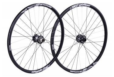paire de roues spank spike race 28 bead bite 27 5 av 20x110mm ar 12x150mm noir