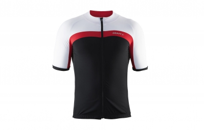 craft maillot velo noir rouge blanc