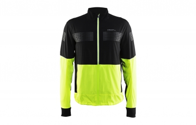 veste coupe vent craft brillant 2 0 noir jaune fluo