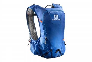 sac a dos salomon skin pro 10 set bleu orange