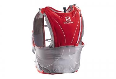 sac a dos salomon s lab adv skin 12l gris rouge unisexe