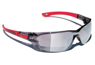 paire de lunettes azr win rouge gris fume