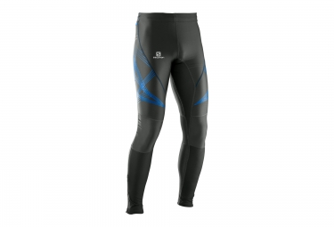 collant running homme salomon intensity long tight anthracite