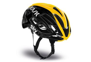 casque kask protone tour noir jaune