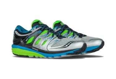 saucony chaussures zealot iso 2 gris vert bleu homme