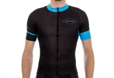 maillot manches courtes isano galibier noir bleu