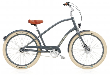 electra beach cruiser townie balloon 3i eq gris