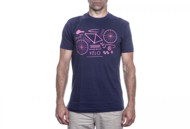 lebram t shirt velo remix bleu marine rose