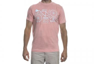 lebram t shirt velo remix rose bleu