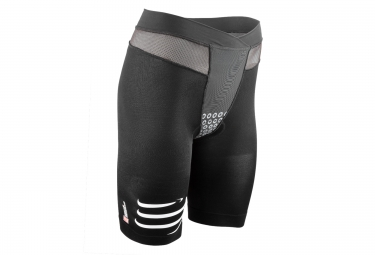 short de compression femme compressport tr3 brutal short noir