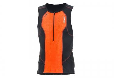 maillot triathlon sans manches de compression 2xu perform tri singlet orange
