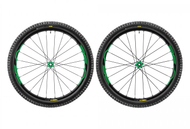 paire de roues vtt mavic xa elite 27 5 vert axes 15mm 9mm av 142x12mm 135x9mm ar shi