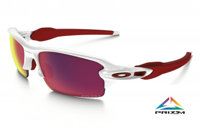 lunettes oakley flak 2 0 prizm road blanc rouge violet ref oo9295 05