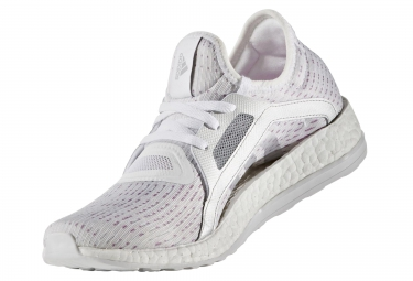 adidas running pure boost x blanc violet femme
