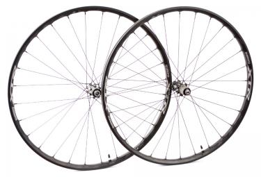 paire de roues shimano xtr wh m9000 27 5 axe 15 x100 9x135mm centerlock