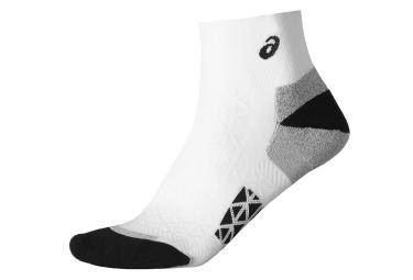 asics chaussettes marathon blanc noir