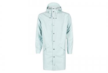 veste rains long jacket bleu