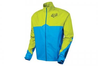 veste coupe vent impermeable fox downpour light bleu jaune