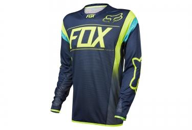 maillot manches longues fox flexair dh bleu jaune