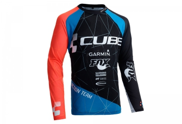 maillot manches longues cube action signature noir rouge bleu