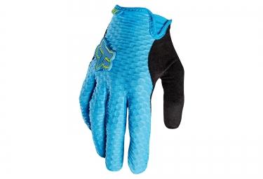 gants longs femme fox lynx bleu