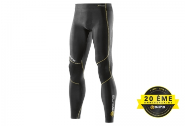 collant de compression skins a400 logo line homme noir jaune