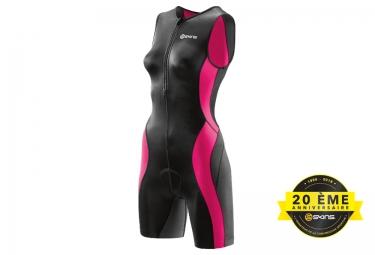 combinaison tri fonction skins tri400 zip avant femme noir rose