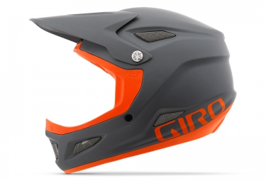 casque integral giro disciple mips gris orange