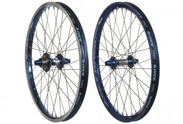 paire de roues pride racing rival pro sx 20 bleu