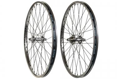 paire de roues cruiser pride racing rival pro sx 24 argent