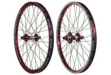 paire de roues pride racing rival pro sx 20 rouge