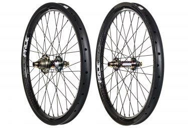 paire de roues pride racing highmod 12k pro carbon oil slick