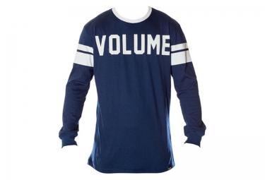 t shirt manches longues volume bleu