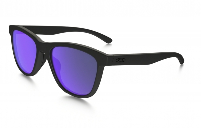 lunettes femme oakley moonlighter noir viloet iridium polarise ref oo9320 09